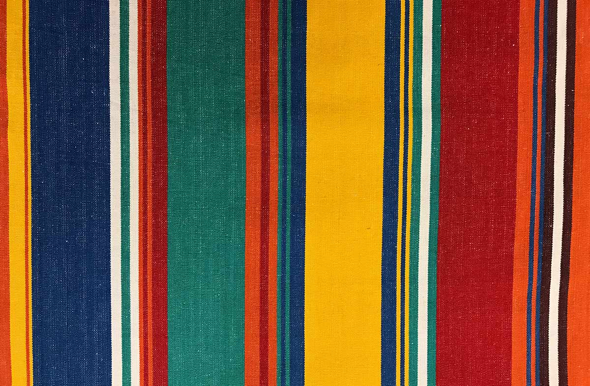orange, blue, jade green - Striped Fabrics | Stripe Cotton Fabrics | Striped Curtain Fabrics | Upholstery Fabrics