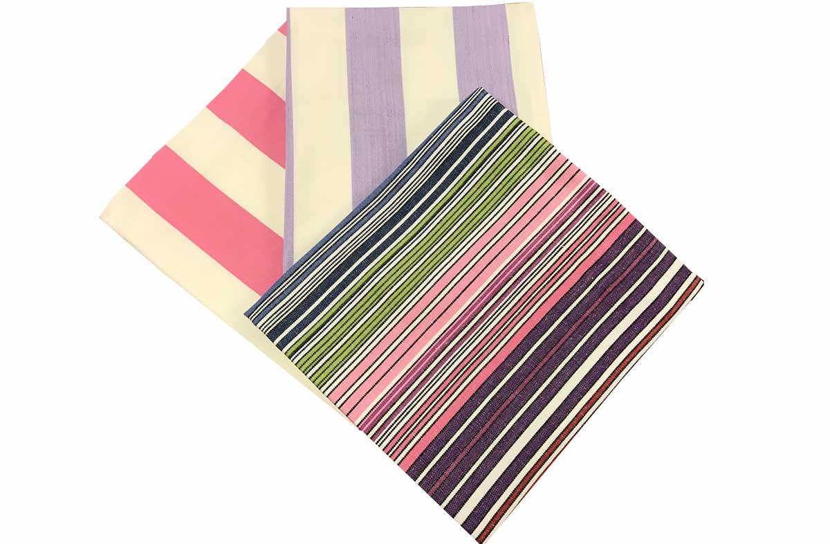 Pink and Purple Stripe Tea Towel Set | Pack of 3 Cotton Tea Towels