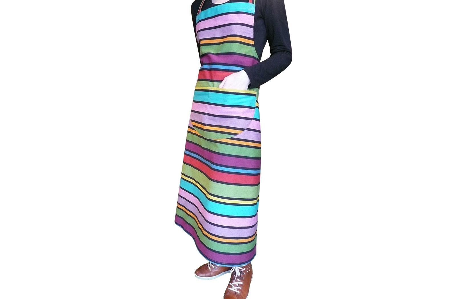 Fun Striped Aprons - Dominoes Stripe