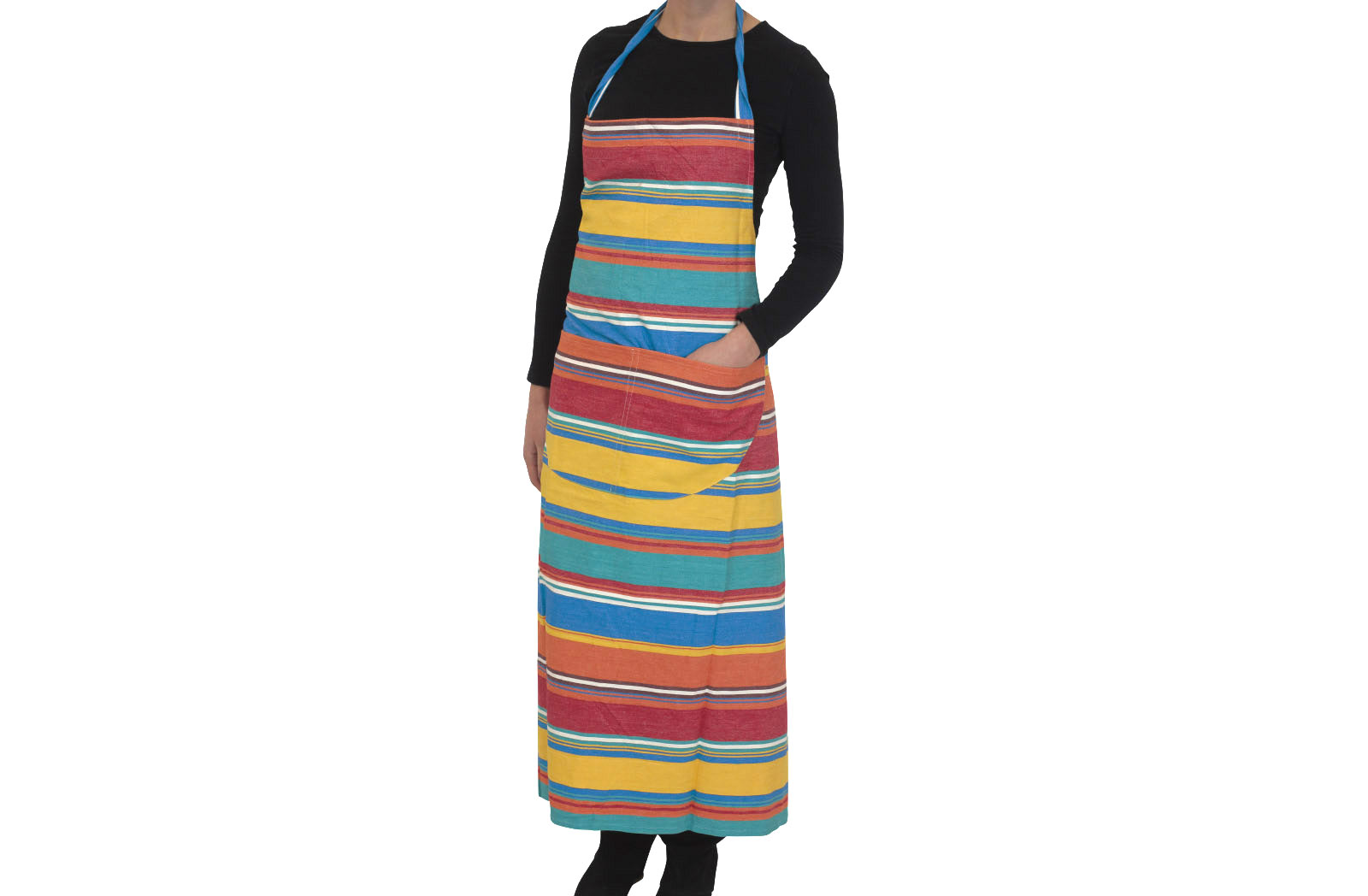 Orange Striped Aprons Orange  Blue  Jade Green  Stripes