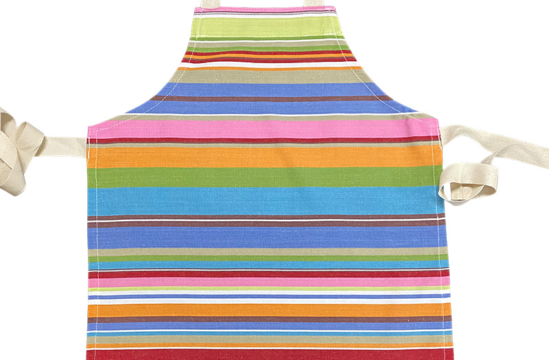 Blue, pink, turquoise - Striped Childrens Aprons