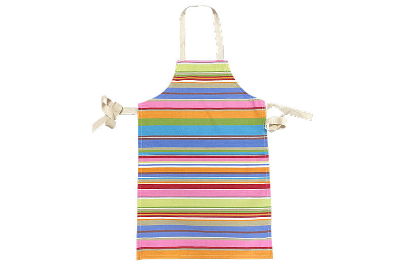 Blue Striped Kids Aprons | Blue Pink Stripe Aprons for Children