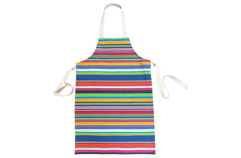 Blue, green, pink multi Striped Childrens Aprons Blue, green, pink