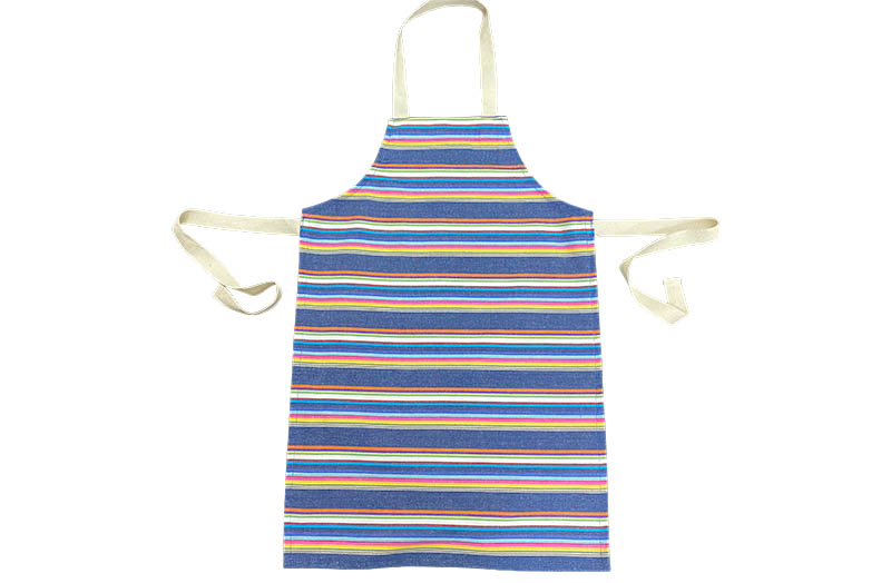 Navy blue with rainbow stripe Childrens Aprons