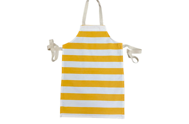 Yellow and White Striped Childrens Aprons