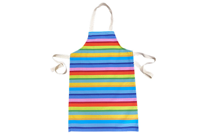 Rainbow Striped Kids Aprons | Aprons for Children Tango Stripe