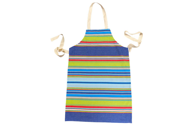 Navy, pale blue, turquoise Striped Childrens Aprons