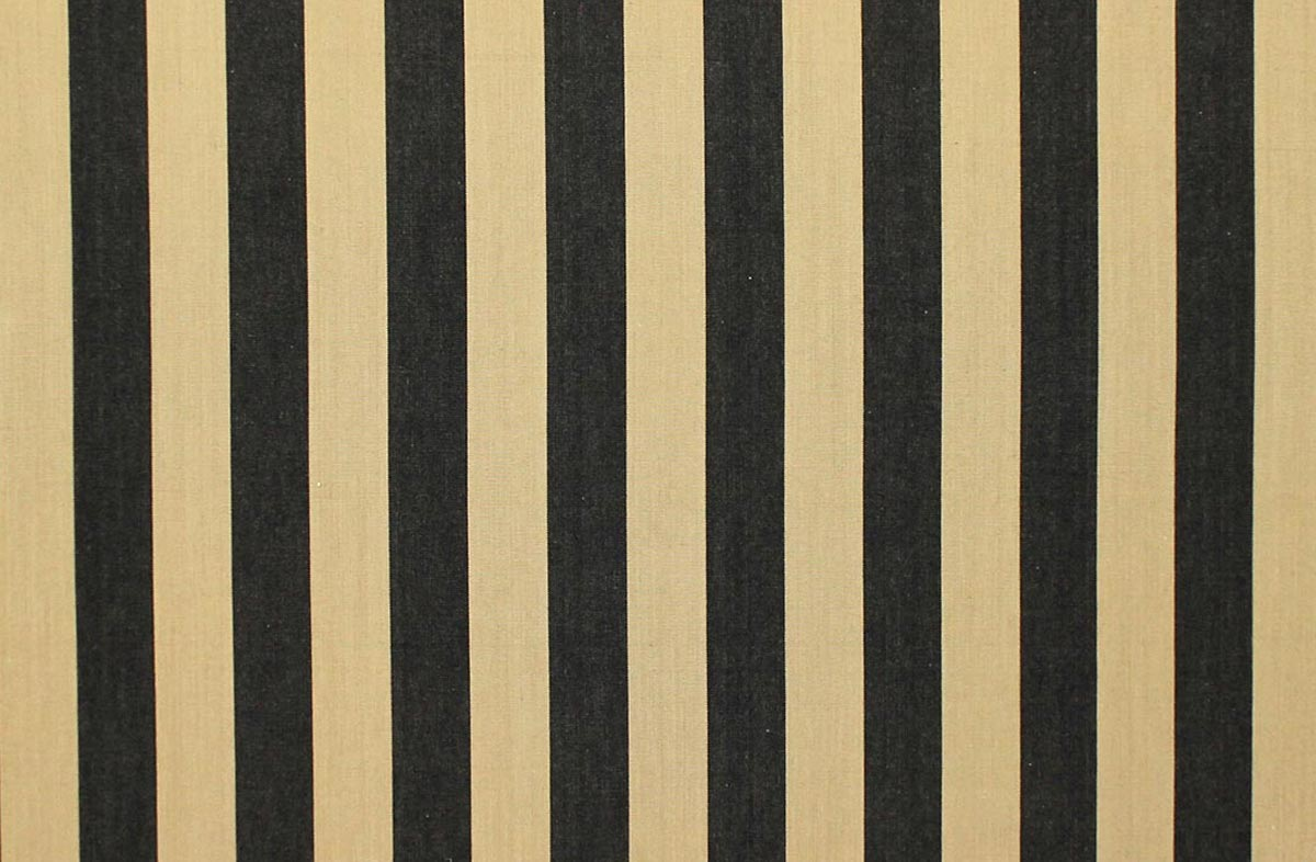 Baton Black and Beige Striped Fabrics