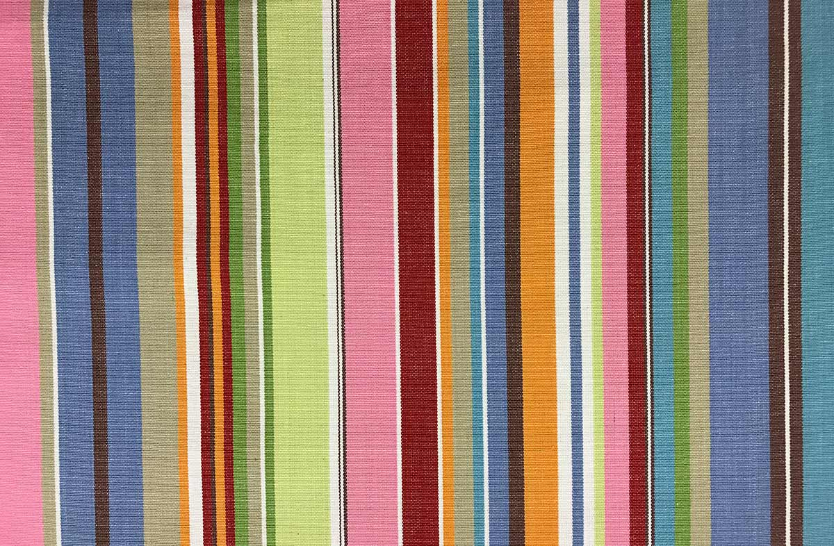 blue, pink, turquoise - Striped Fabrics | Stripe Cotton Fabrics | Striped Curtain Fabrics | Upholstery Fabrics