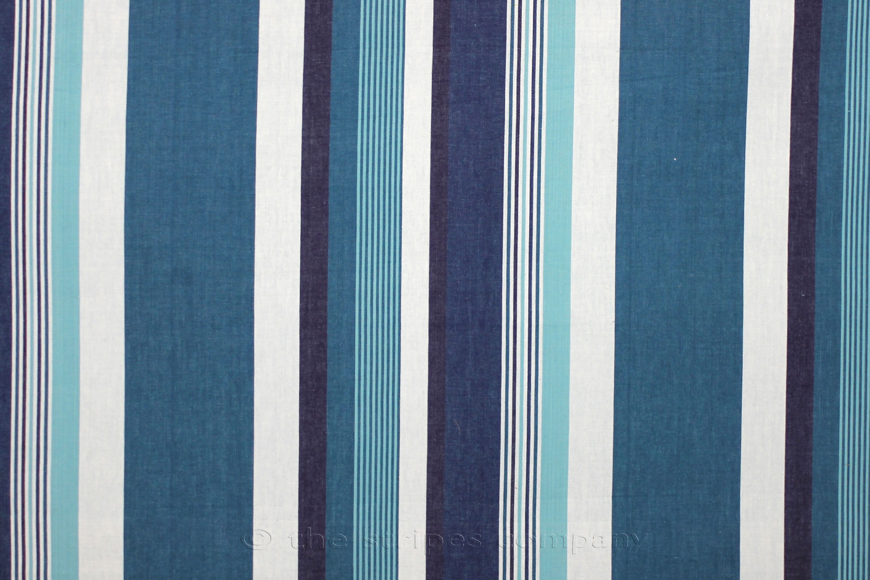 Teal Striped Fabrics | Stripe Cotton Fabrics | Striped Curtain ...
