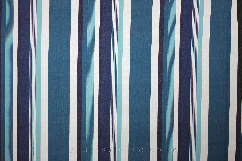 Teal Striped Fabrics | Stripe Cotton Fabrics | Striped Curtain ...