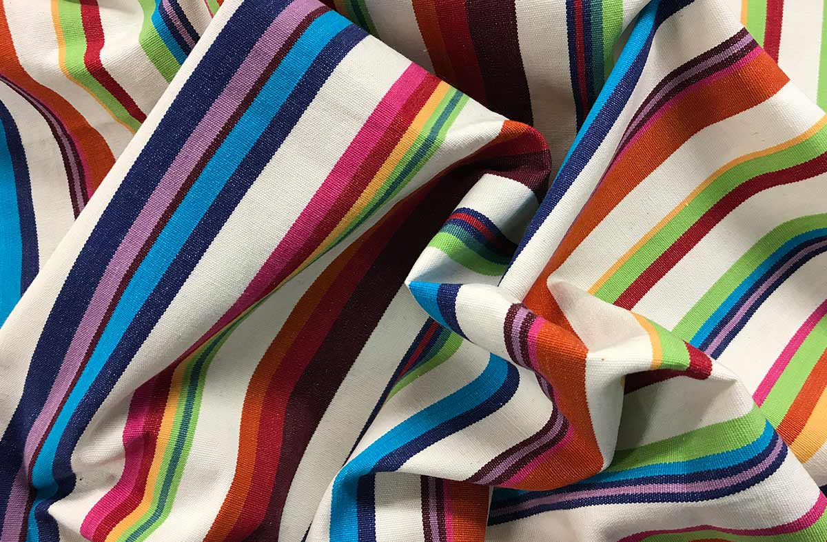 Cream Striped Fabrics | Basketball Stripes