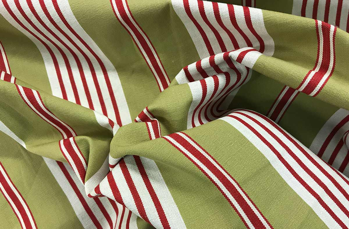 Olive Striped Fabrics | Stripe Cotton Fabrics -  Billiards Stripes