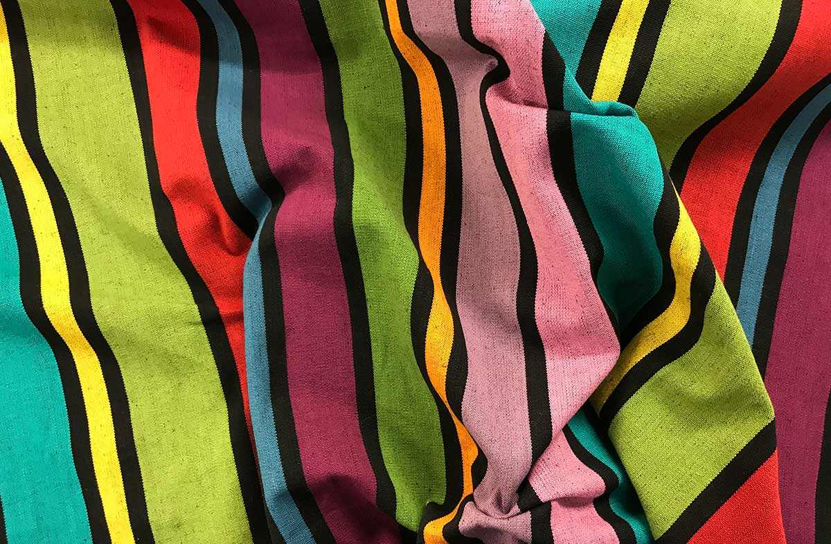 Black Striped Fabrics | Bold Stripe Cotton Fabrics | Dominoes Stripes