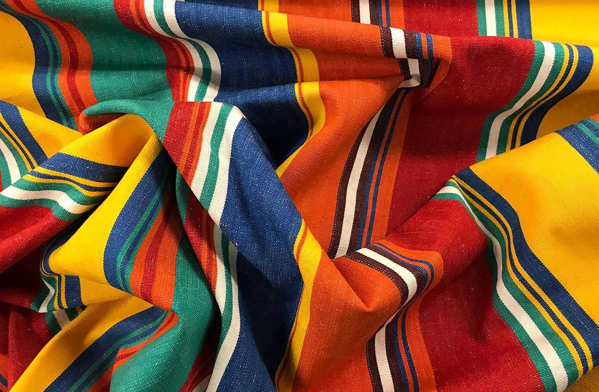 Karting Orange Striped Fabric