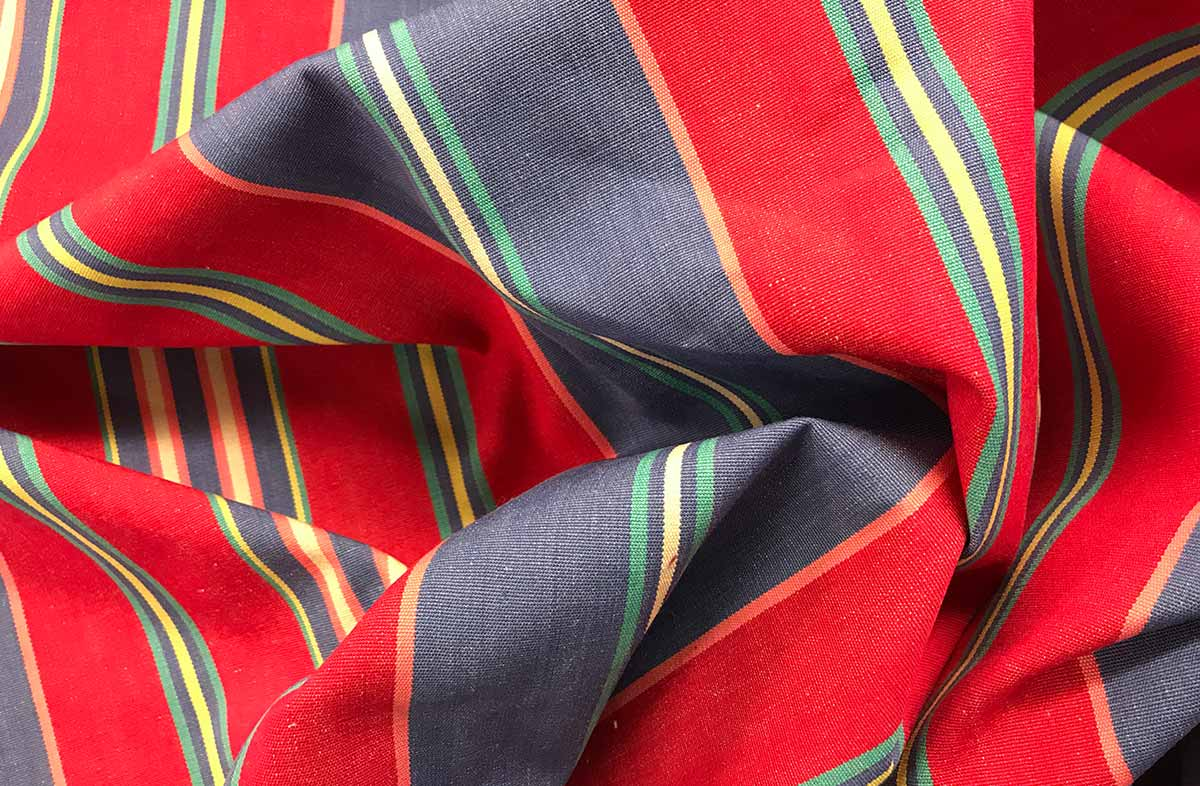 Red Striped Fabrics | Stripe Cotton Curtain Upholstery Fabrics