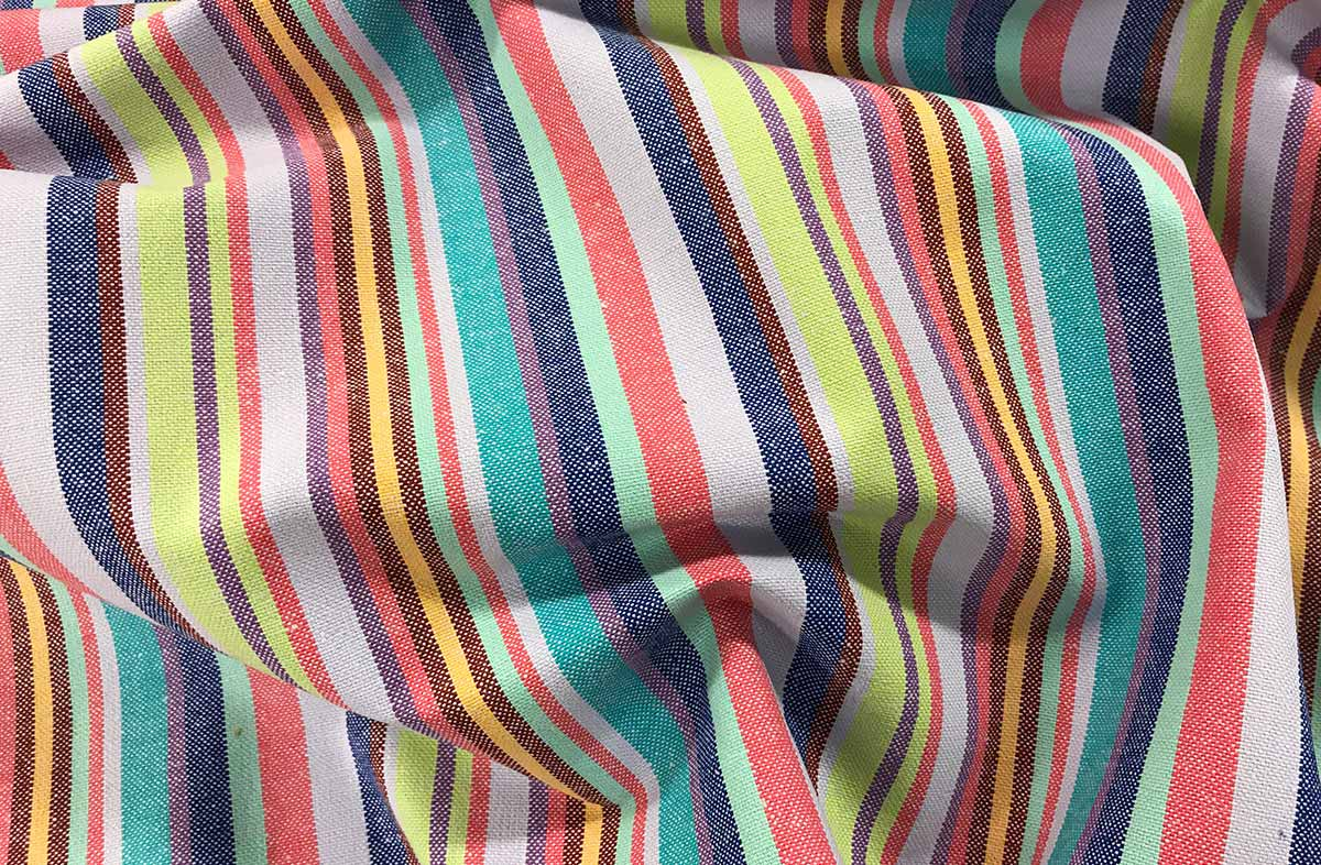 Lavender Multi Striped Fabric - Quickstep Stripe