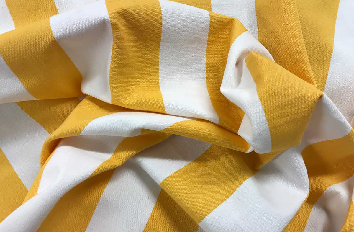Yellow White Striped Fabrics | Striped Curtain Upholstery Fabrics