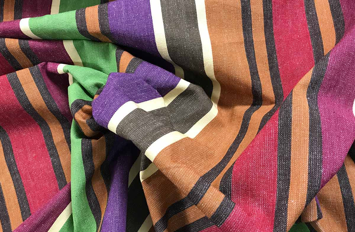 Earthy Colours Striped Fabric - Yoga Stripe