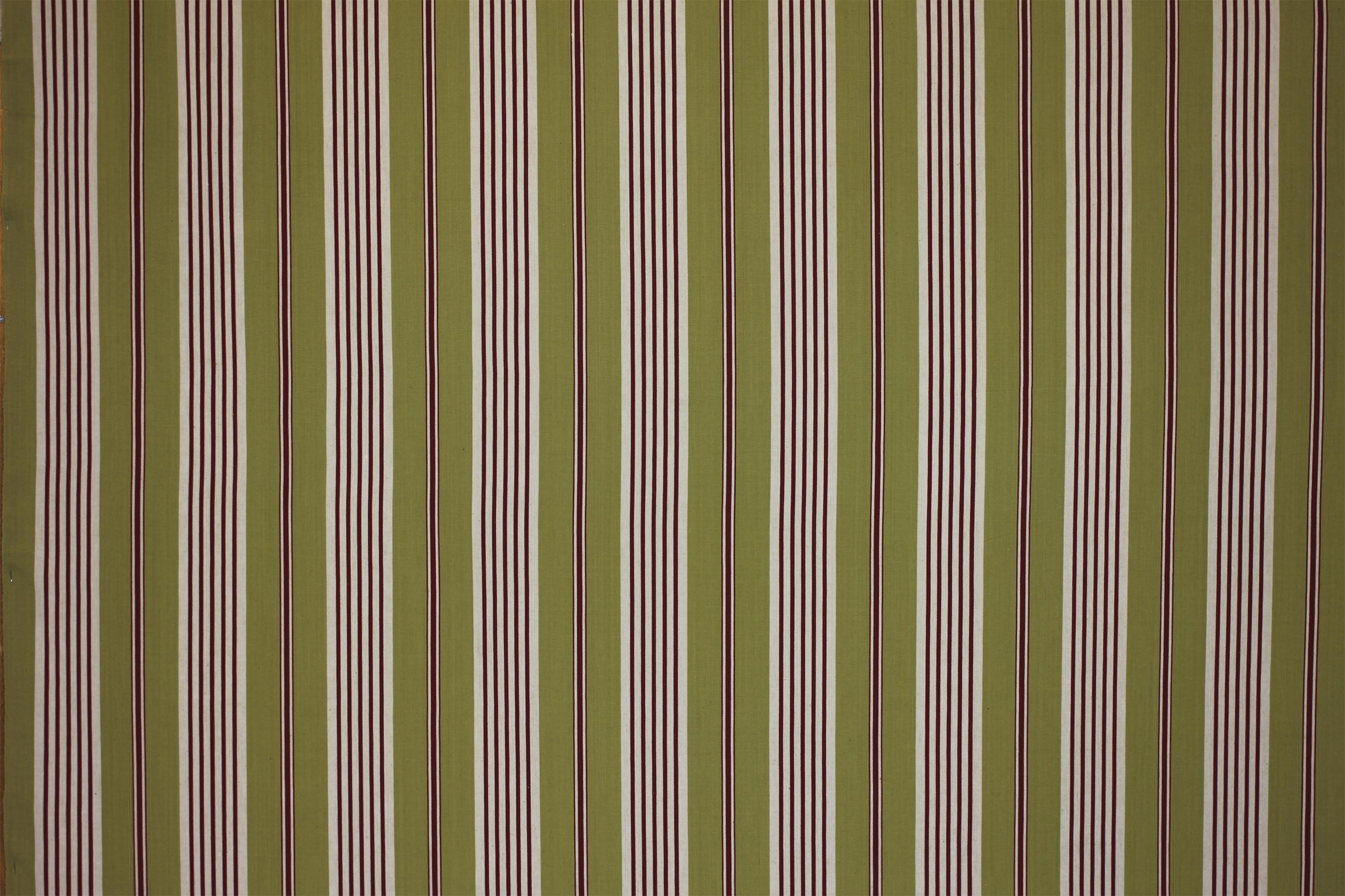 Olive Striped Oilcloth Fabrics | Wipeable Stripe Fabrics - Billiards Stripe