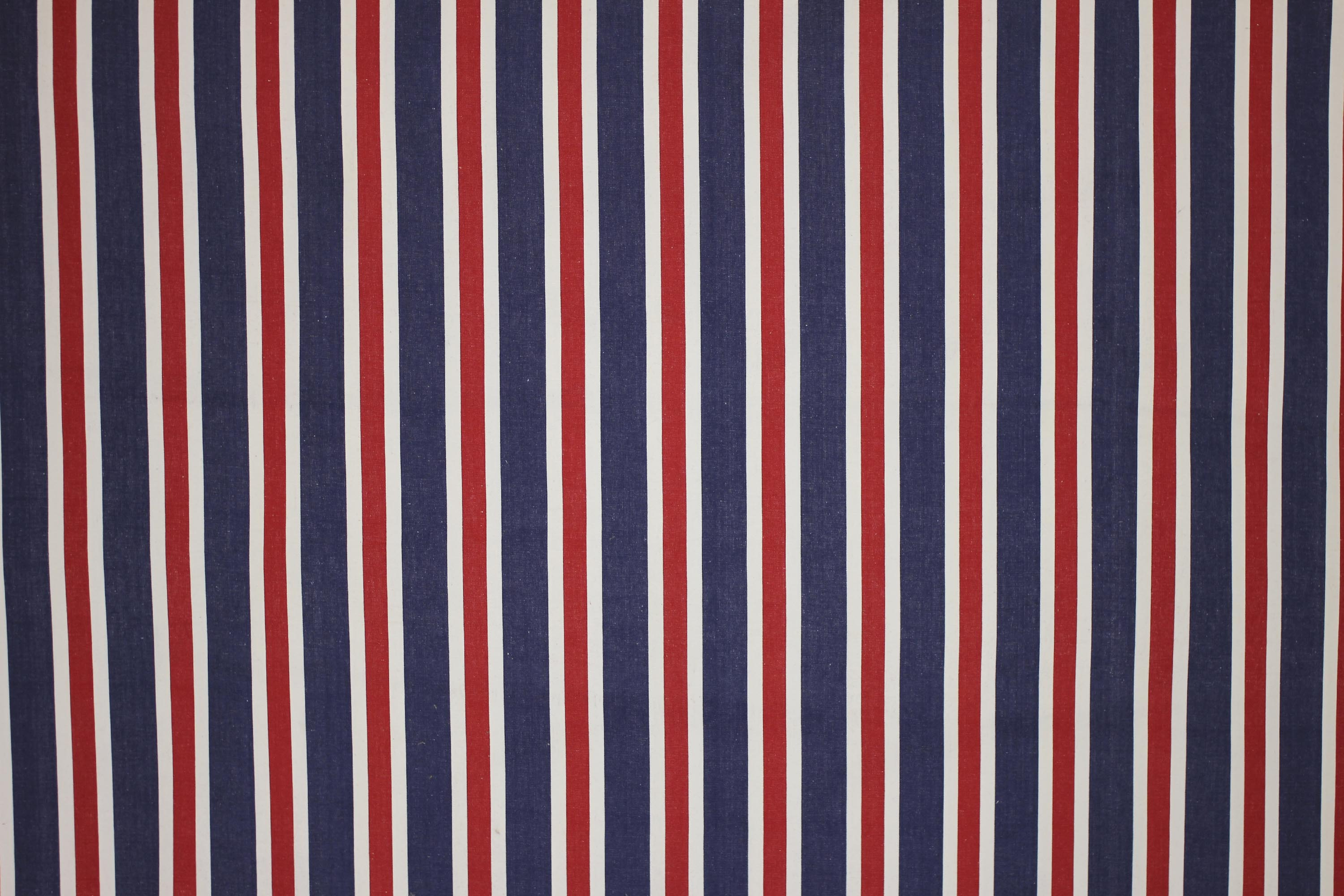 Blue Red and White Striped Fabric