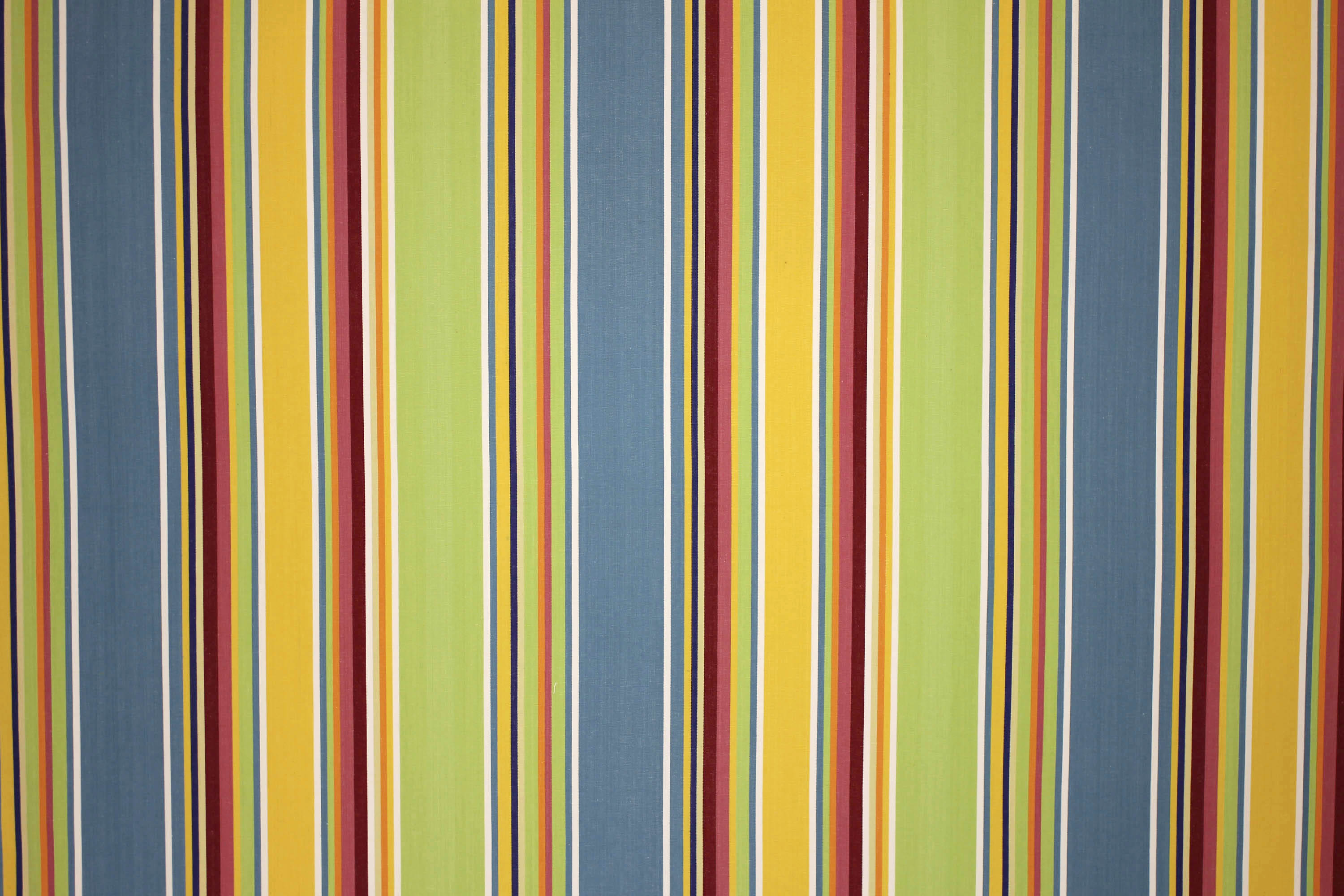 Cricket Yellow Striped Fabric