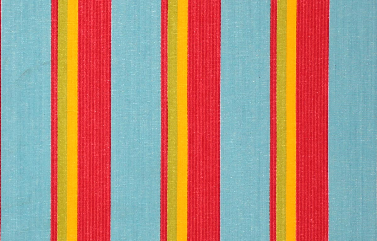 Fastnet Turquoise Striped Fabric