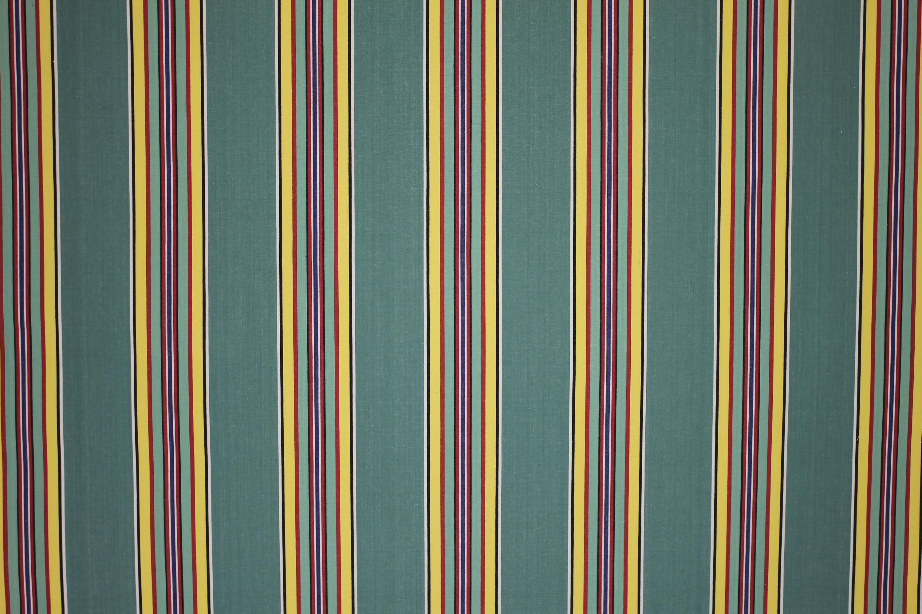 Golf Retro Green Striped Fabric