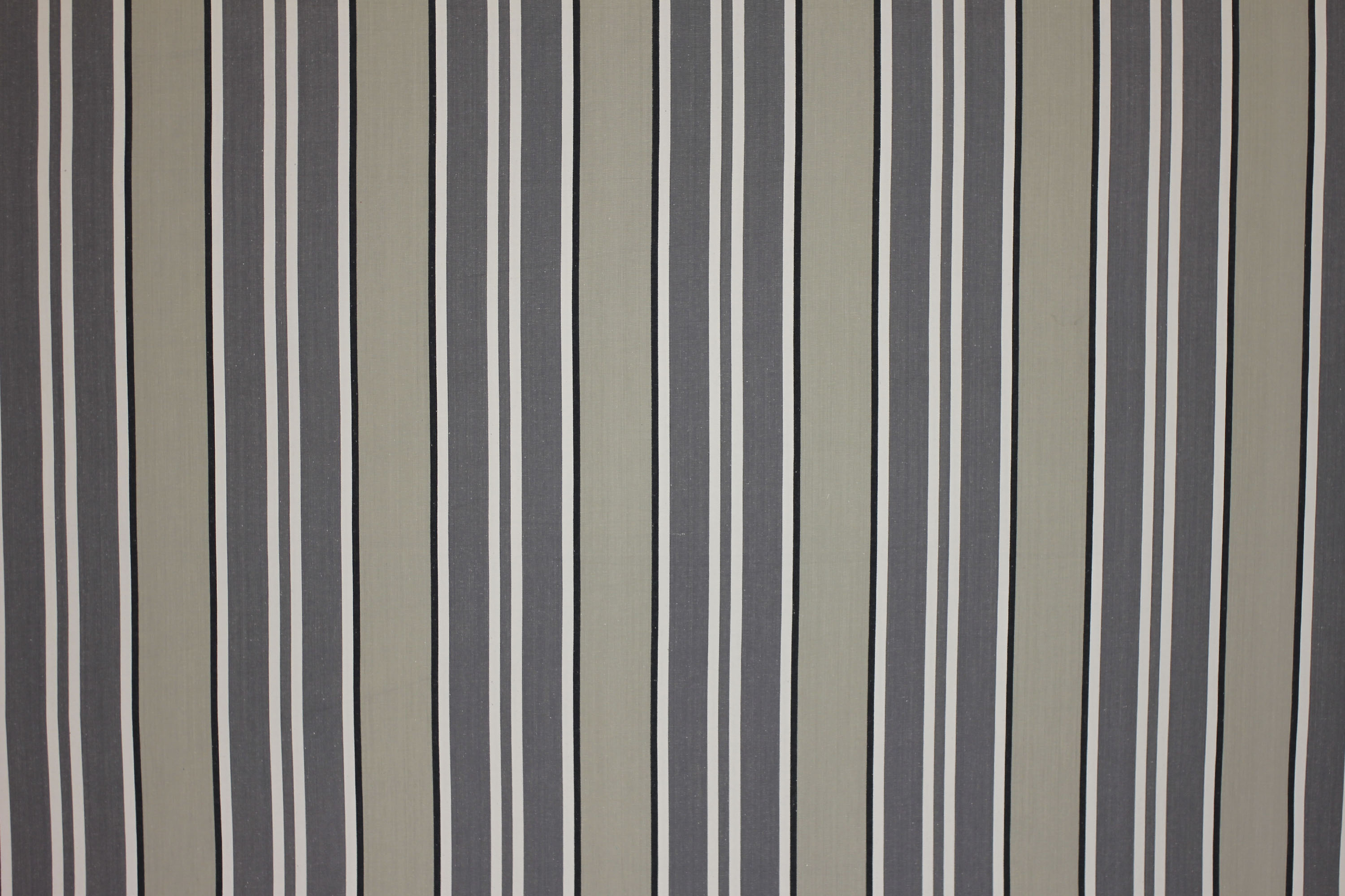 Grey Striped Fabrics Stripe Cotton Curtain Upholstery Kendo