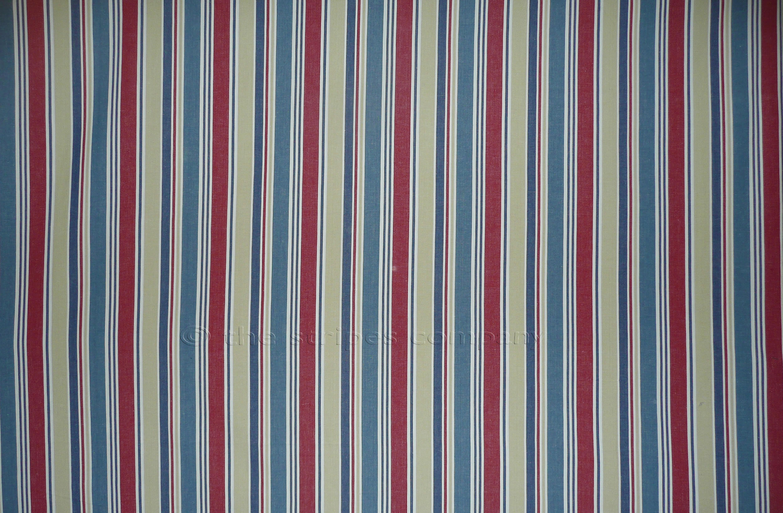 Ludo Blue And Red Striped Fabric