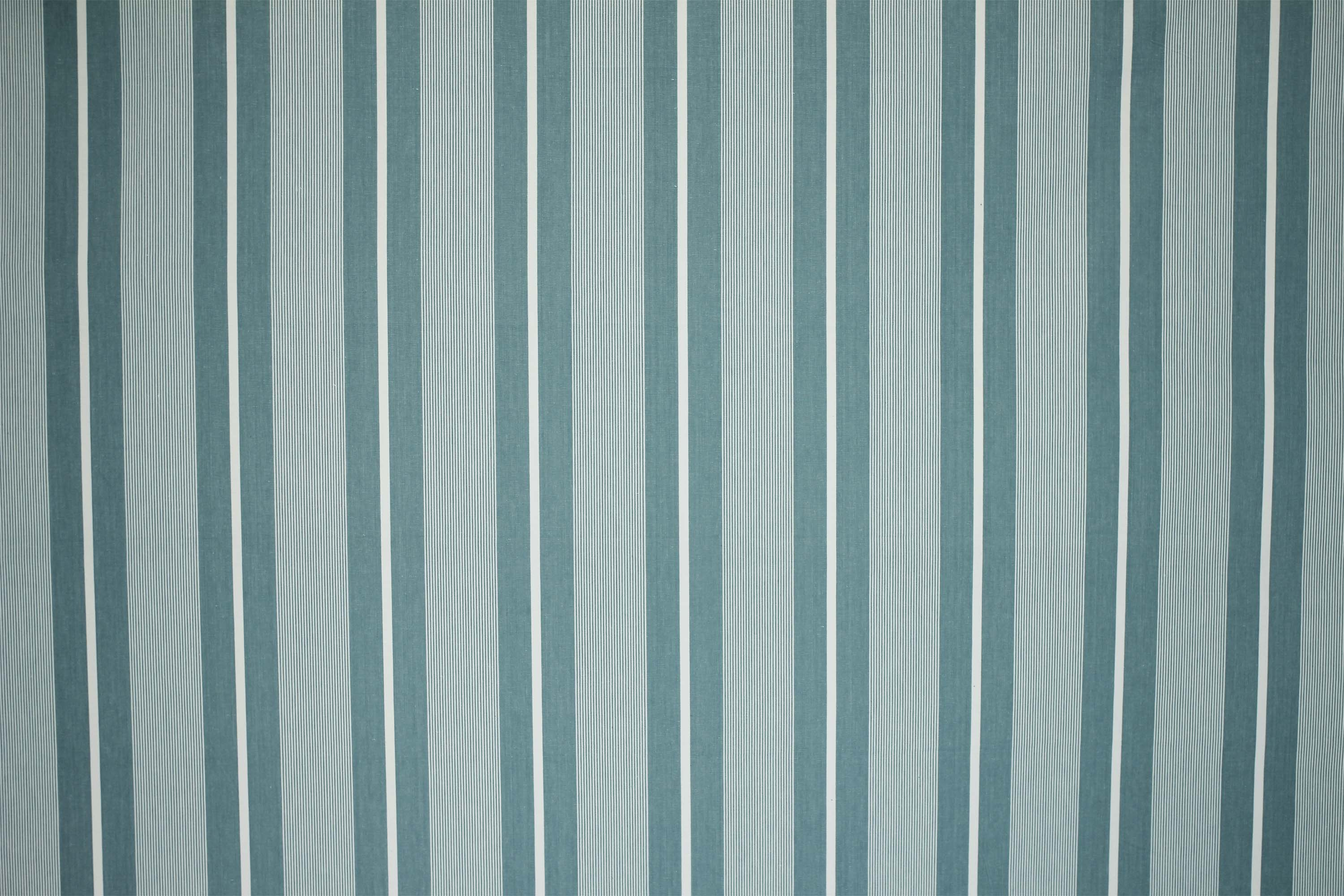 Sevens Teal Pale Striped Fabric