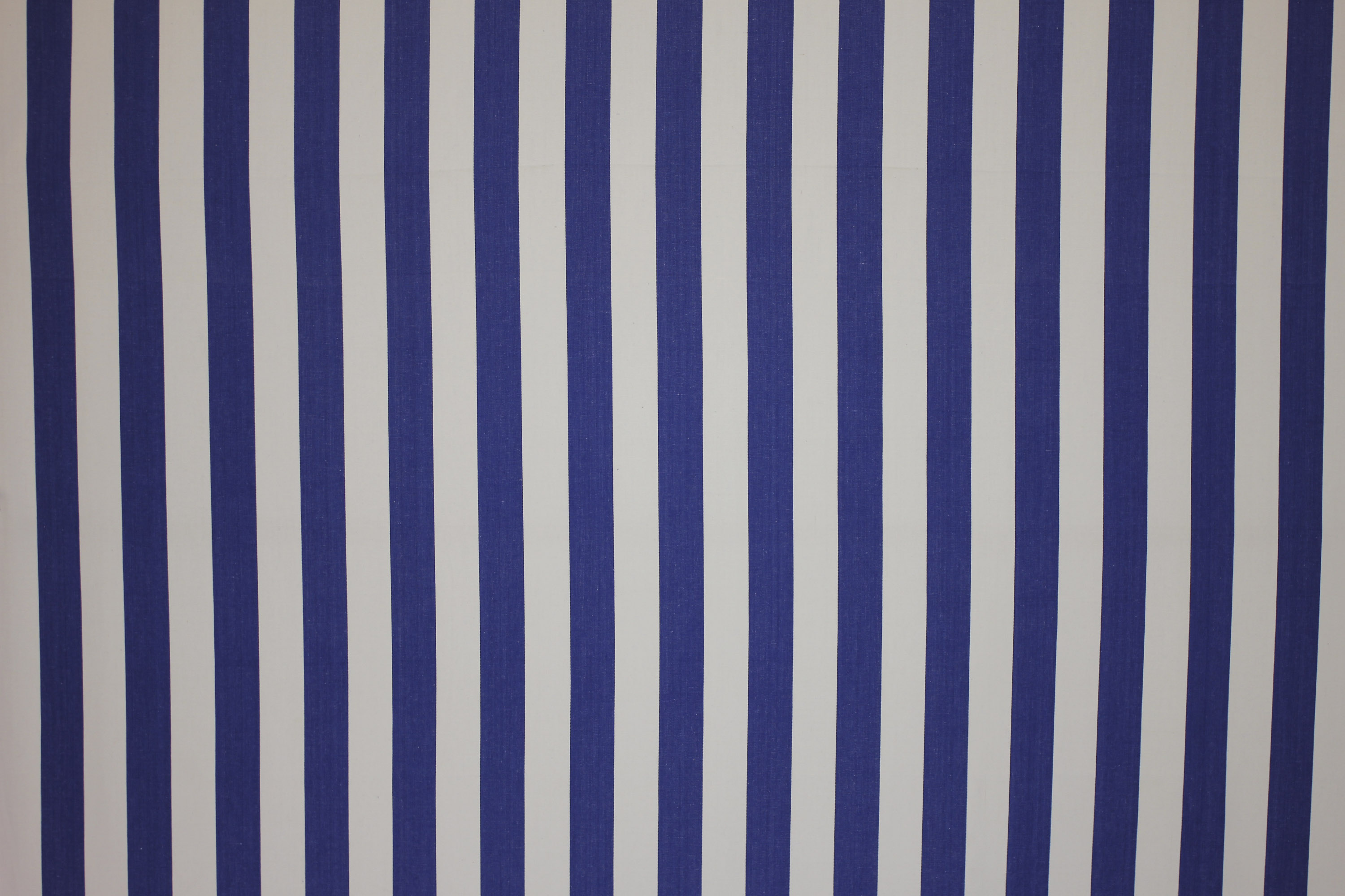 Soccer Blue and White Striped Fabric