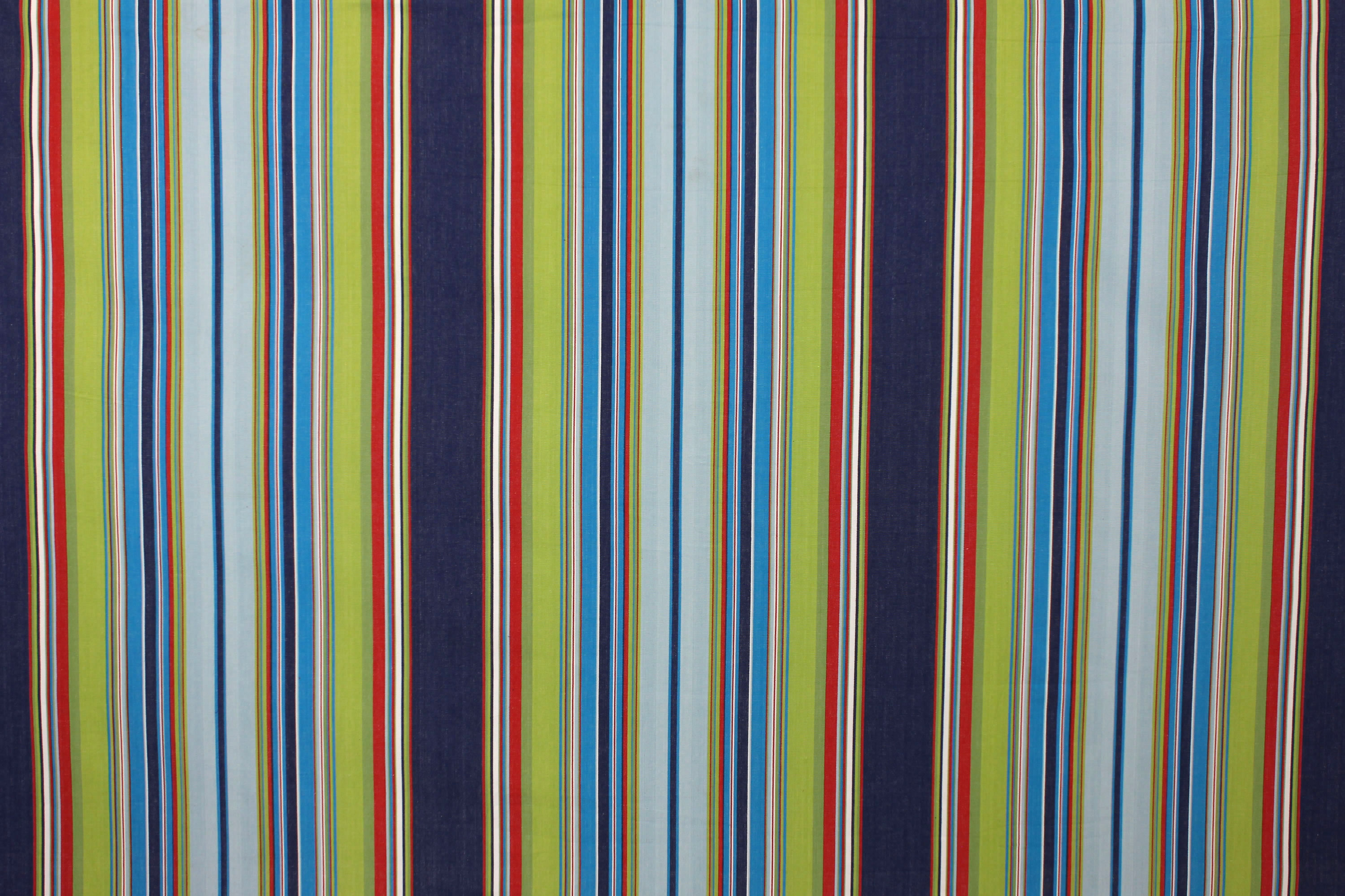 Water Polo Navy Blue Striped Fabric