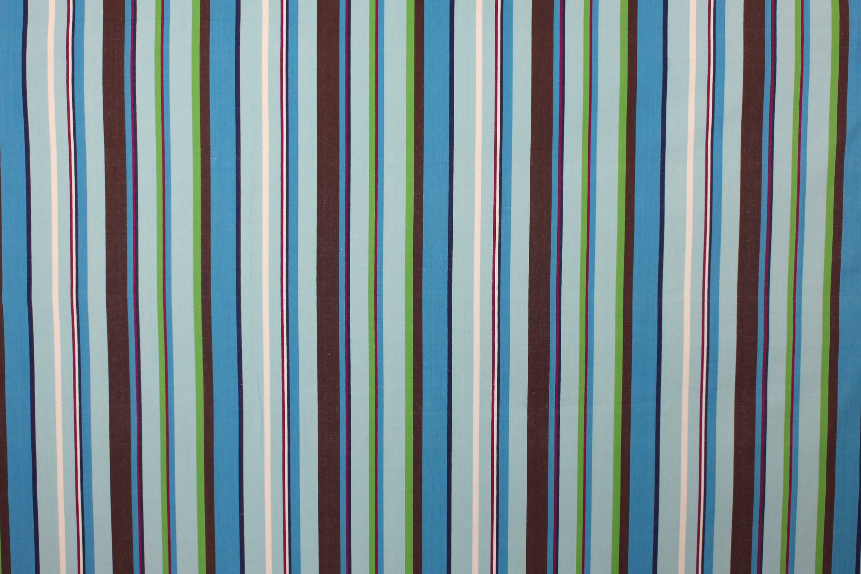 Turquoise Striped Fabrics Stripe Cotton Curtain Upholstery Windsurfing Stripes