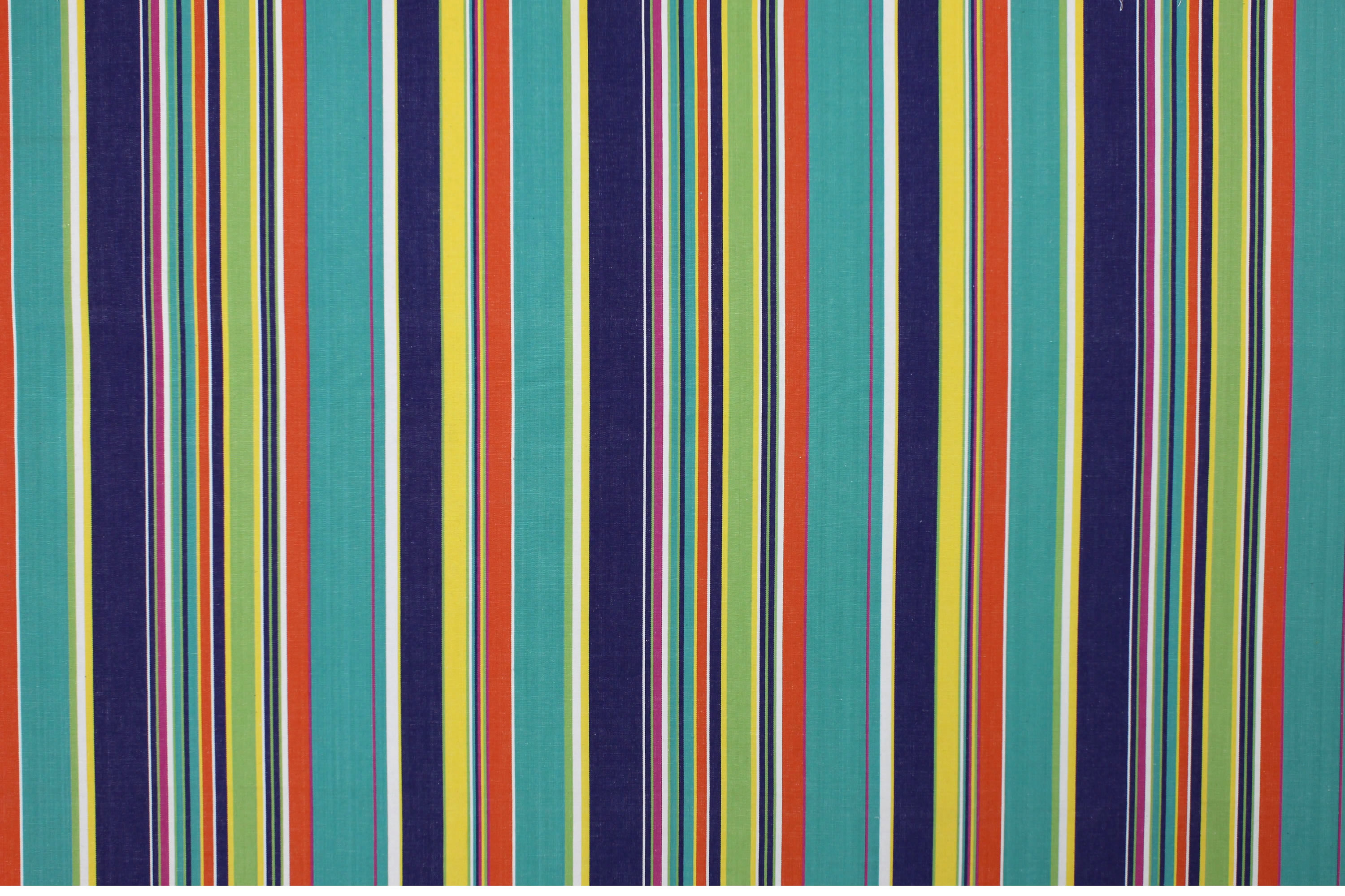 Yachting Blue Striped Fabric