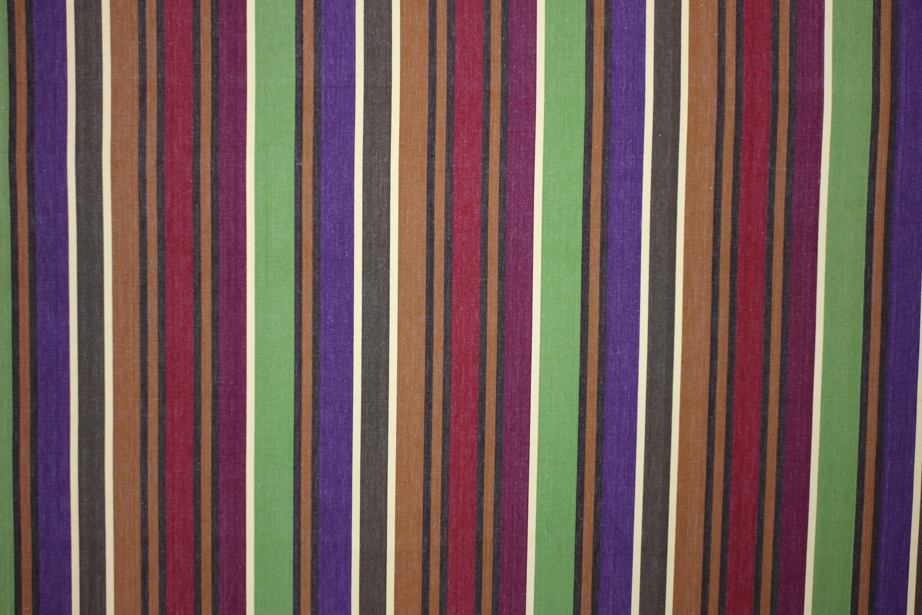 Yoga Caramel Striped Fabric