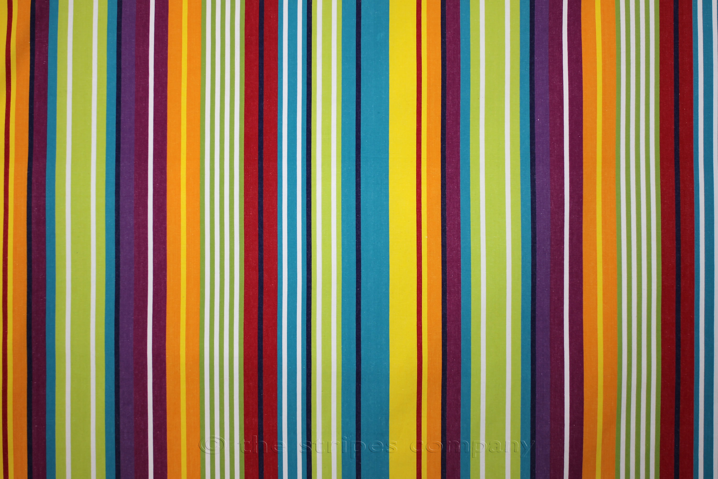 Turquoise Striped Fabrics Stripe Cotton Fabrics