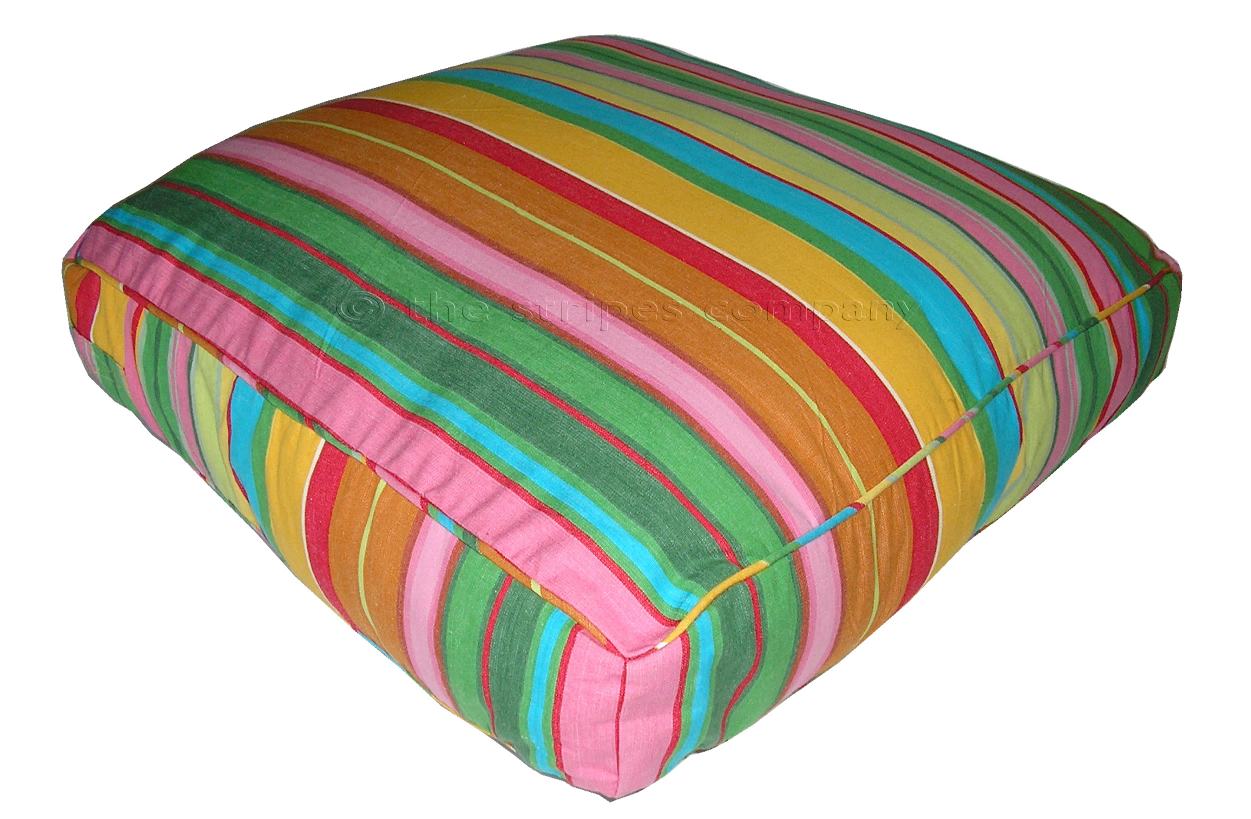 Pink Large Floor Cushions - Snooker Stripe