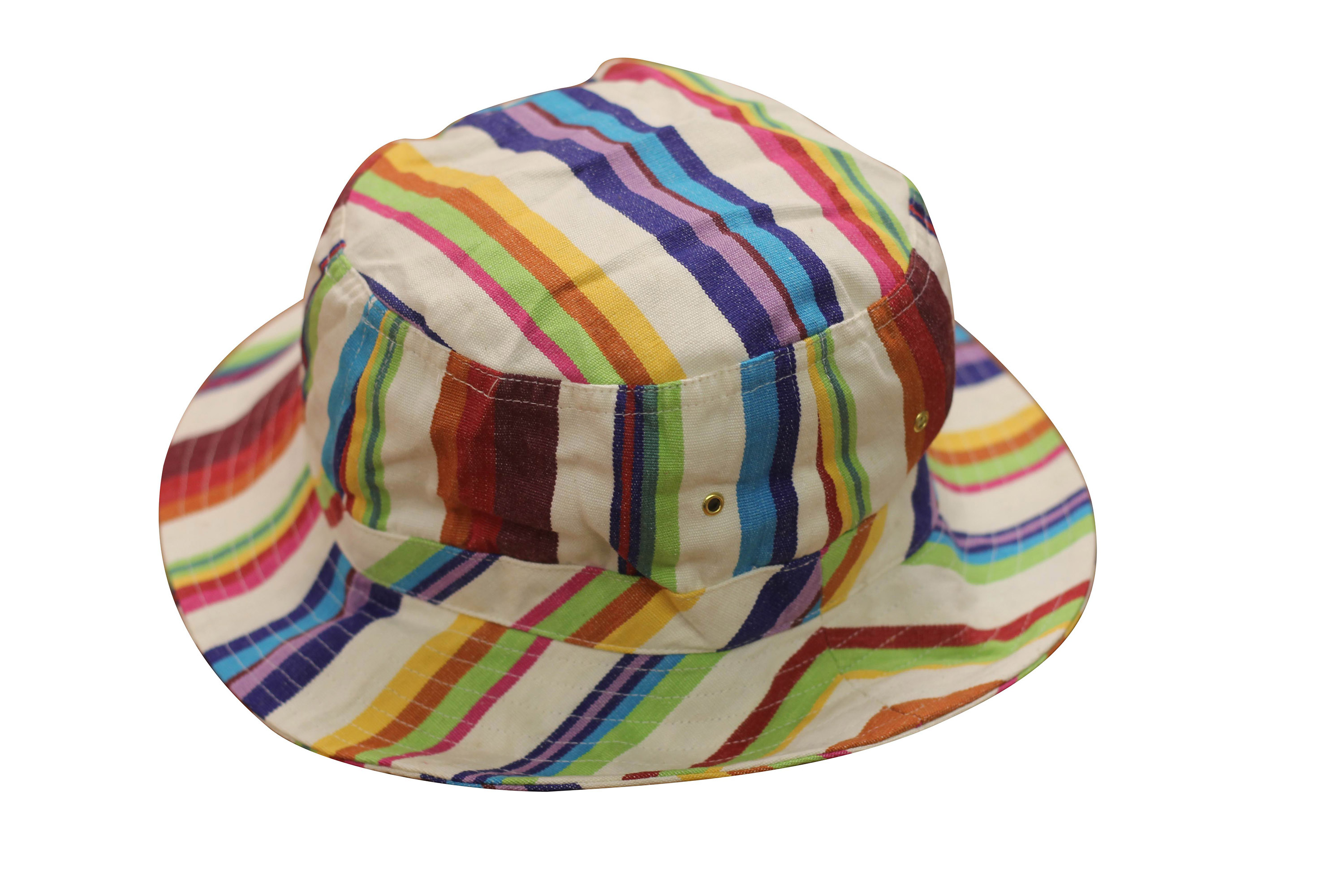 Cream Striped Sun Hats | Bucket Hat Basketball Stripes