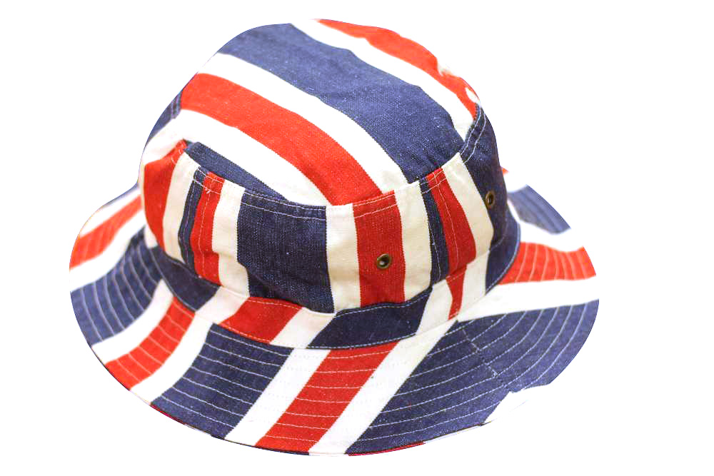 Blue Red and White Stripe Bucket Hat | Sun Hats  Boxing Stripe