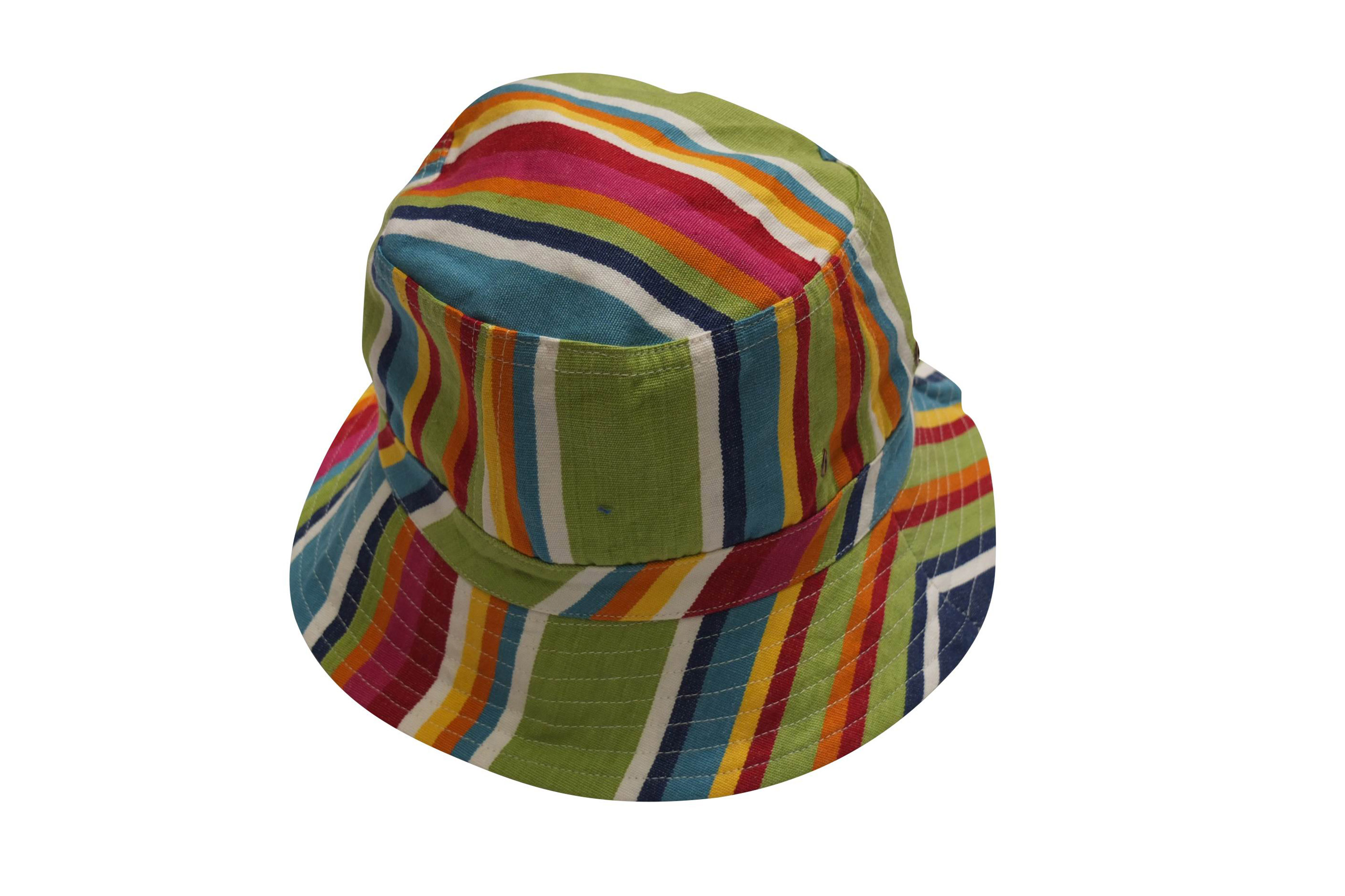 Blue Striped Sun Hats | Sun Bucket Hat  - Climbing Stripe