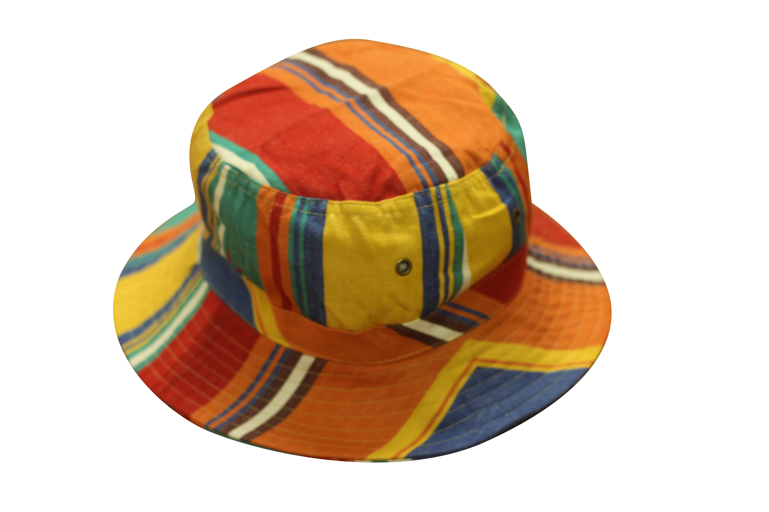 Orange Striped Sun Hats | Sun Protection Hat  Karting Orange Stripes