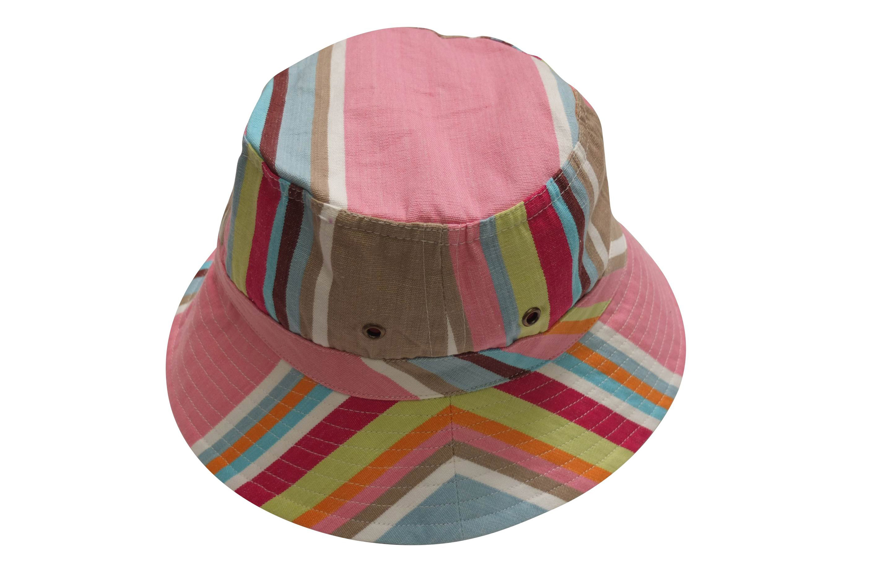 Pink Striped Sun Hats | Sun Protection Hat  Squash Stripes