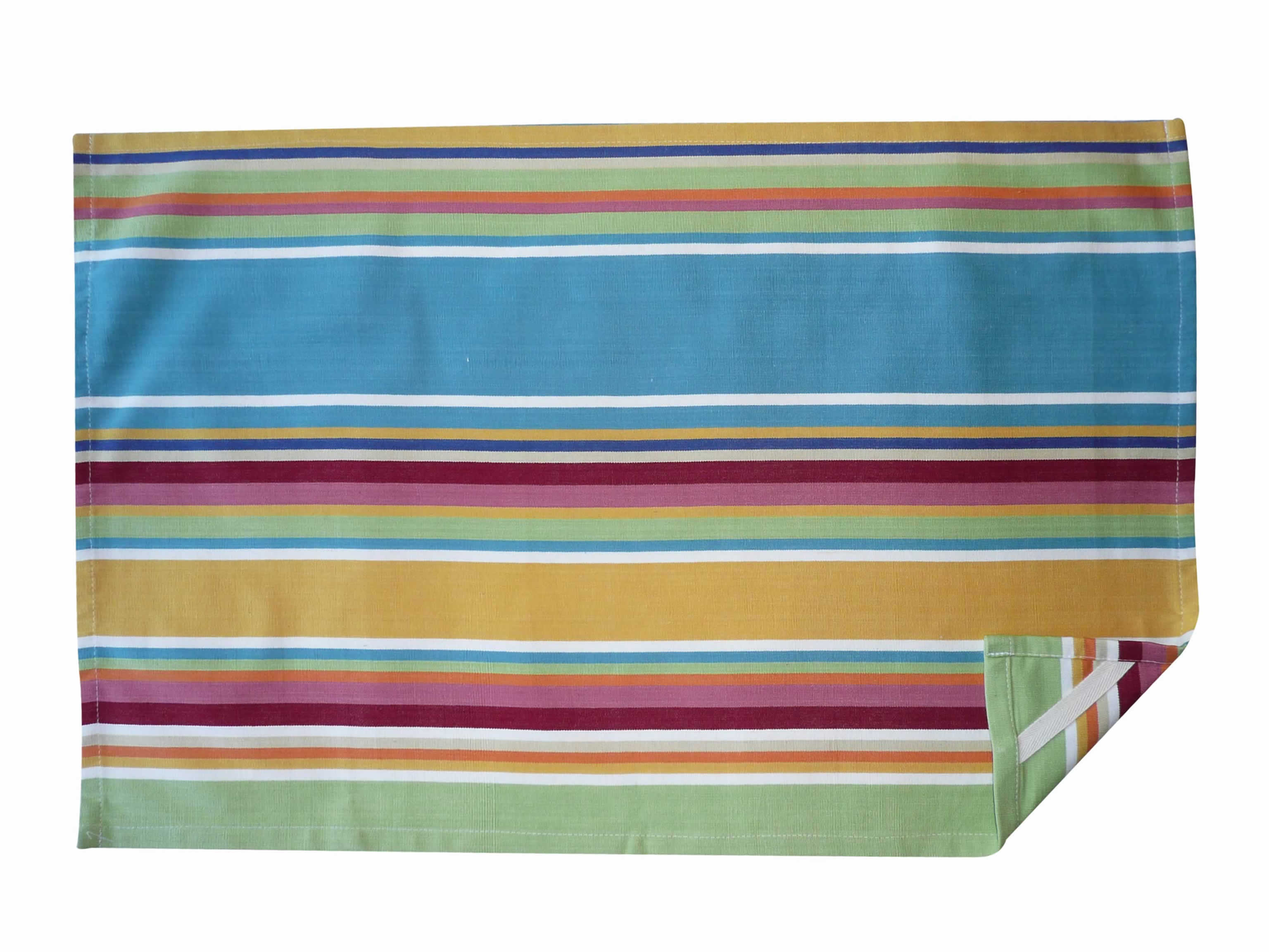 Yellow Stripe Tea Towels | Striped Teatowels Cricket Yellow Stripes
