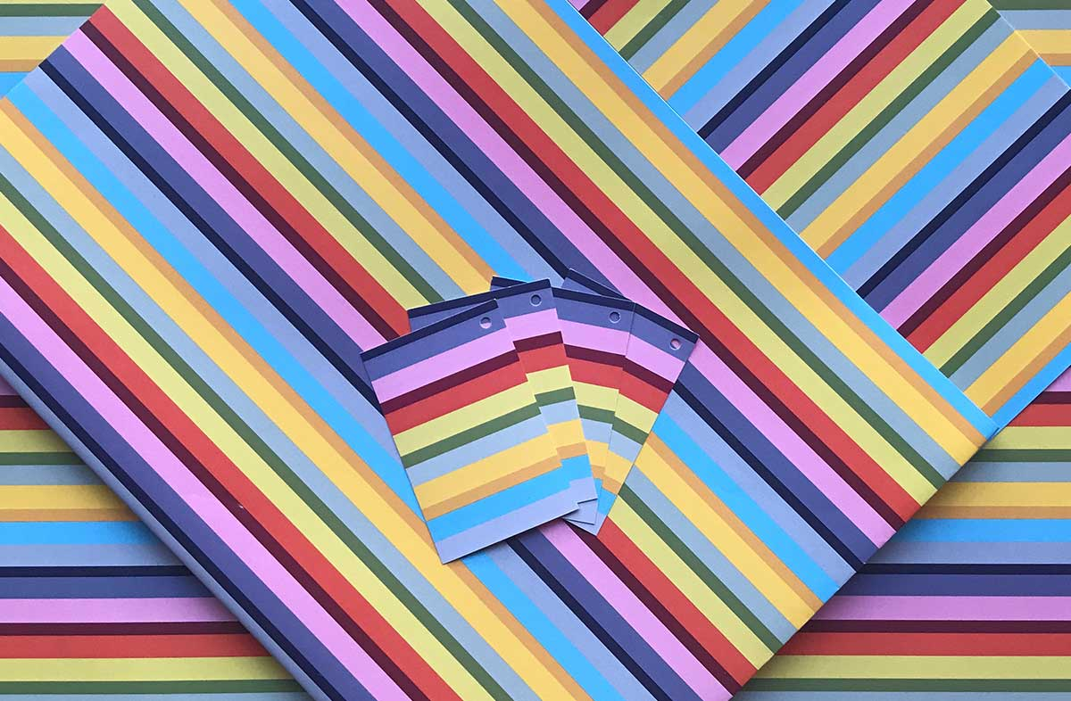 Rainbow Striped Wrapping Paper & Gift Tags