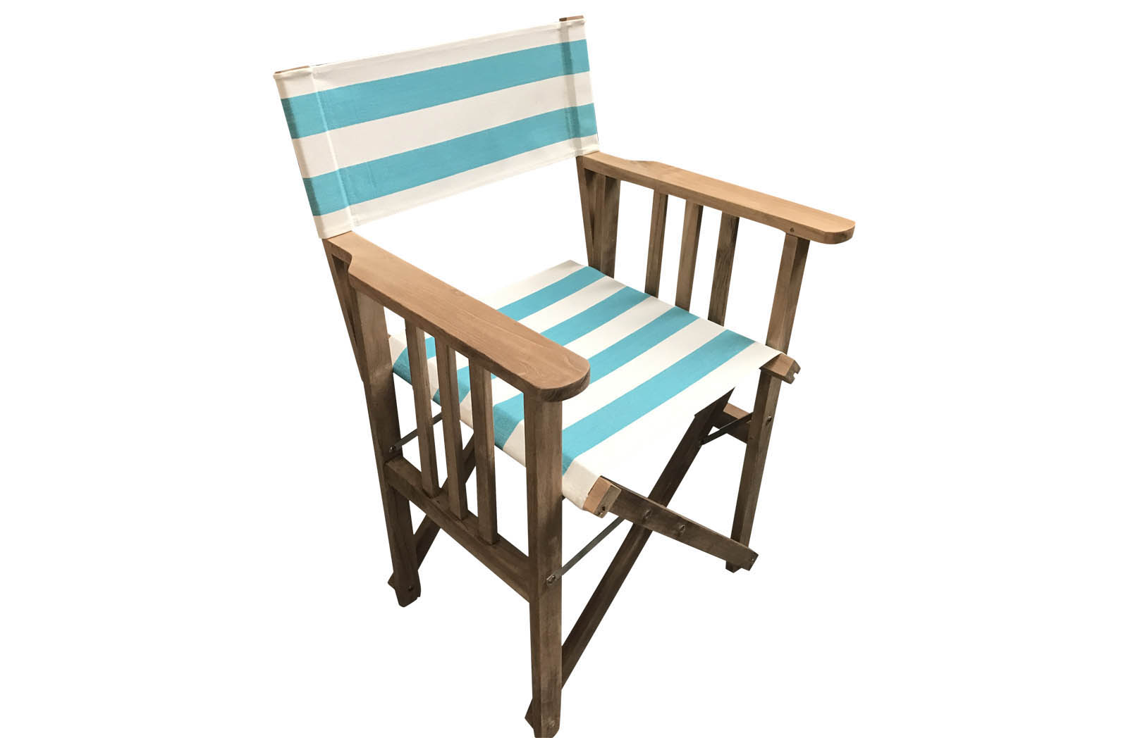 Teak Directors Chair - Surfing Stripe