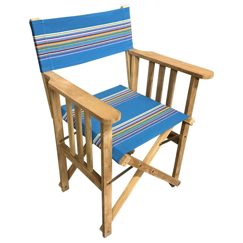 Dark Turquoise Directors Chair - Swimming Stripe