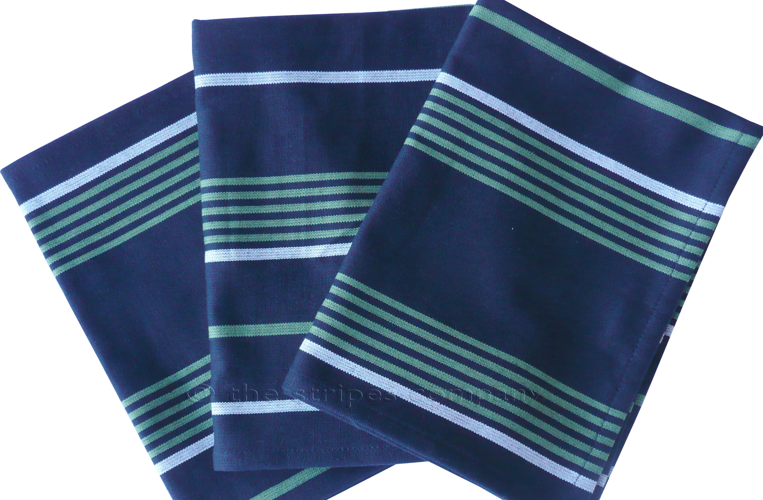 Navy Blue Striped Tea Towels Set of 3 Tea towels