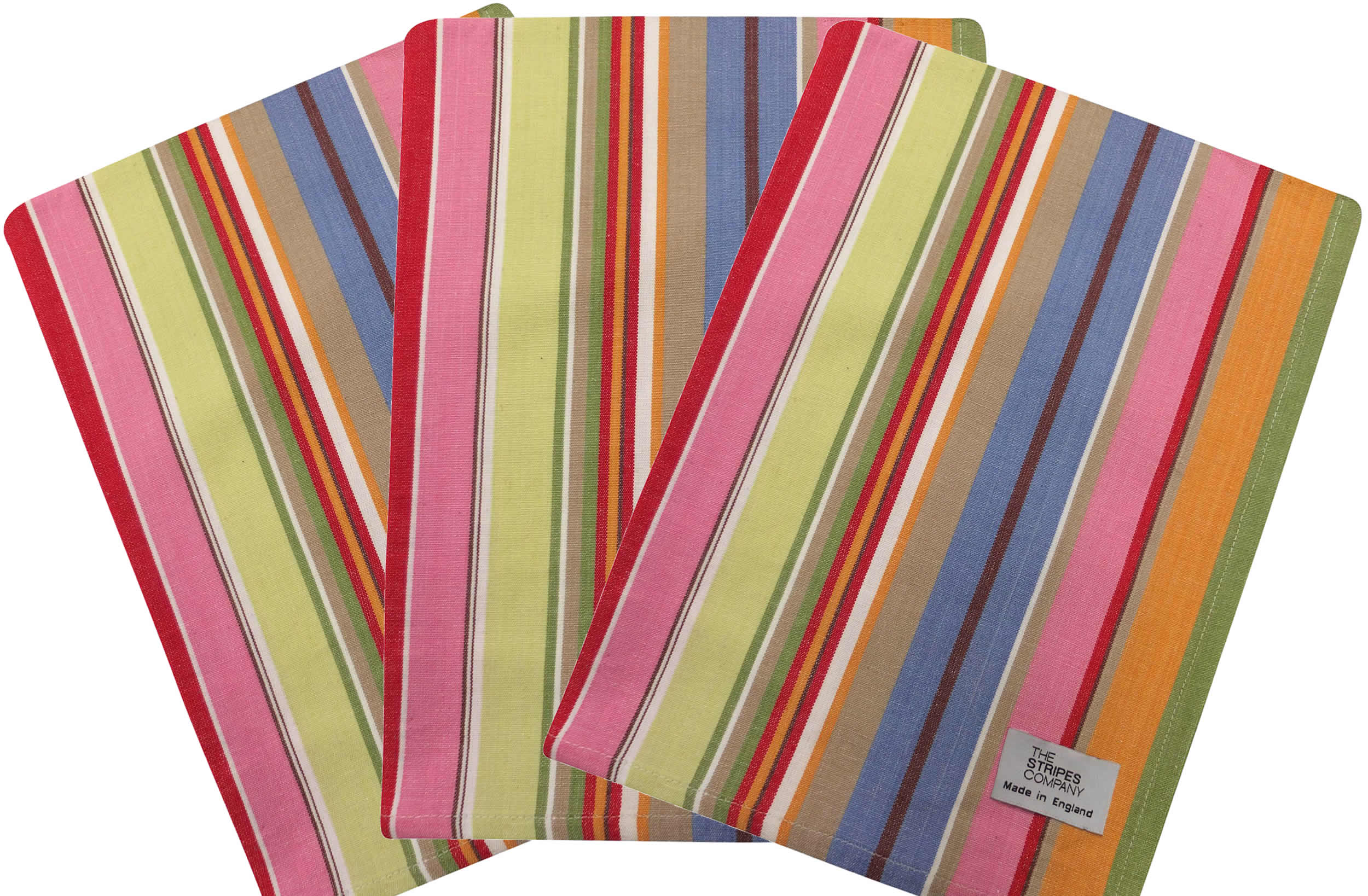 Blue and Pink Striped Tea Towels | Set of 3 Tea Towels