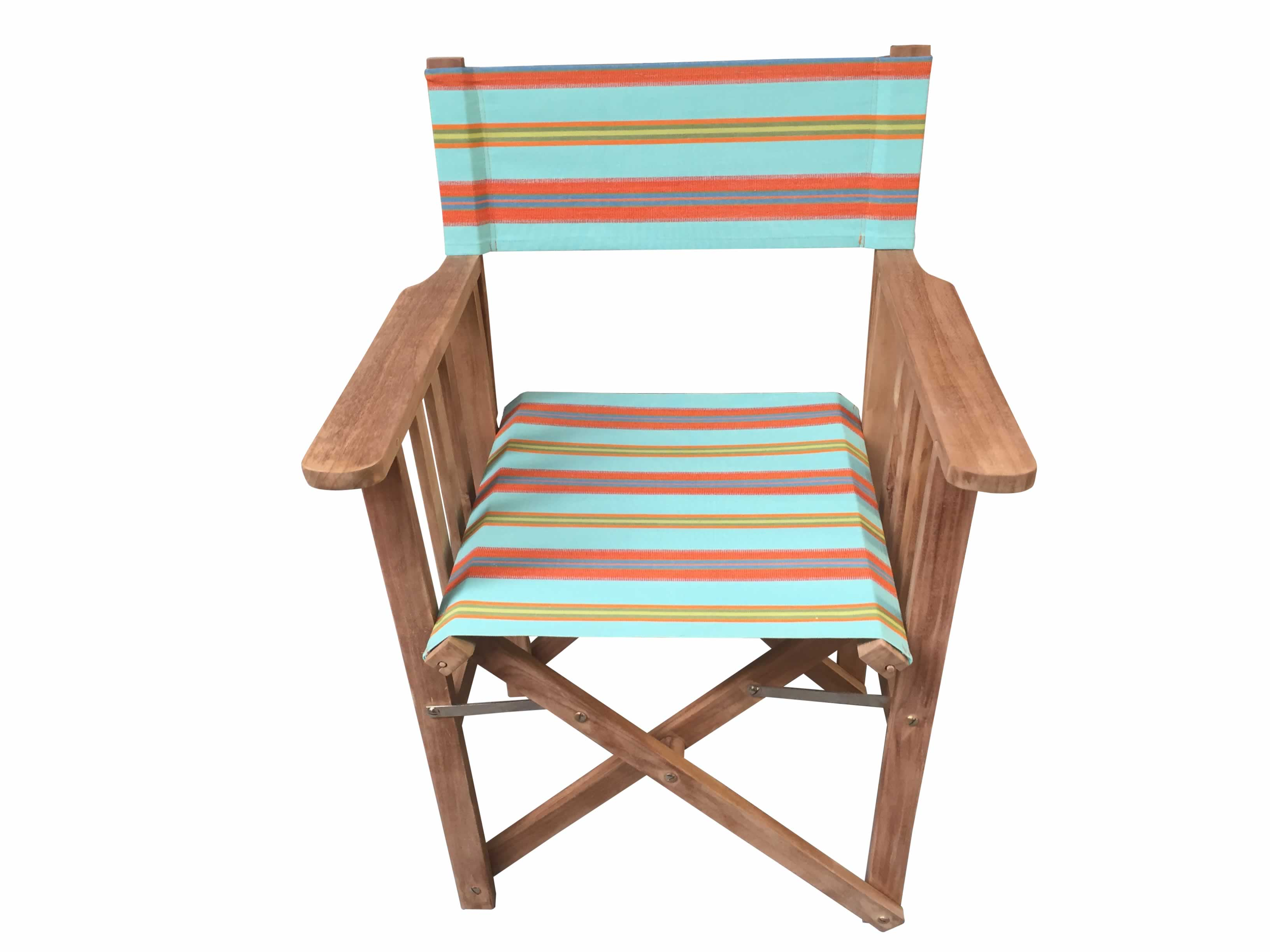 turquoise, terracotta, blue - Directors Chairs